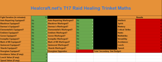 trinket spreadsheet